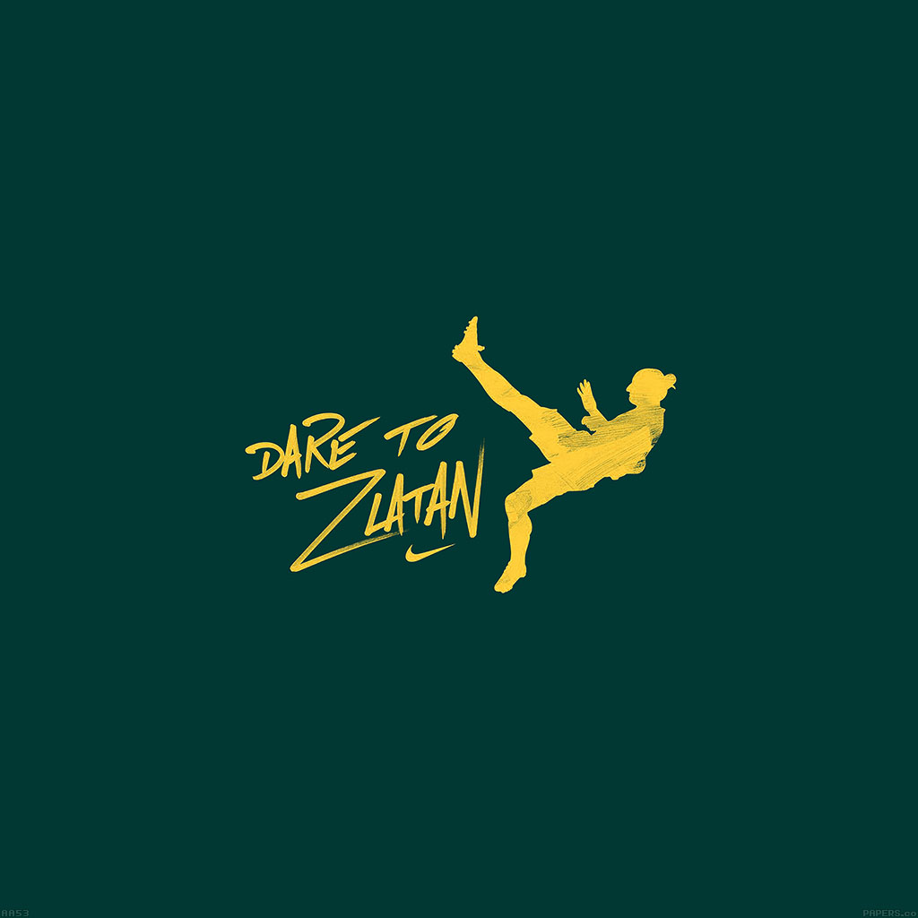 wallpaper-aa53-dare-to-zlatan-green-sports-art-wallpaper
