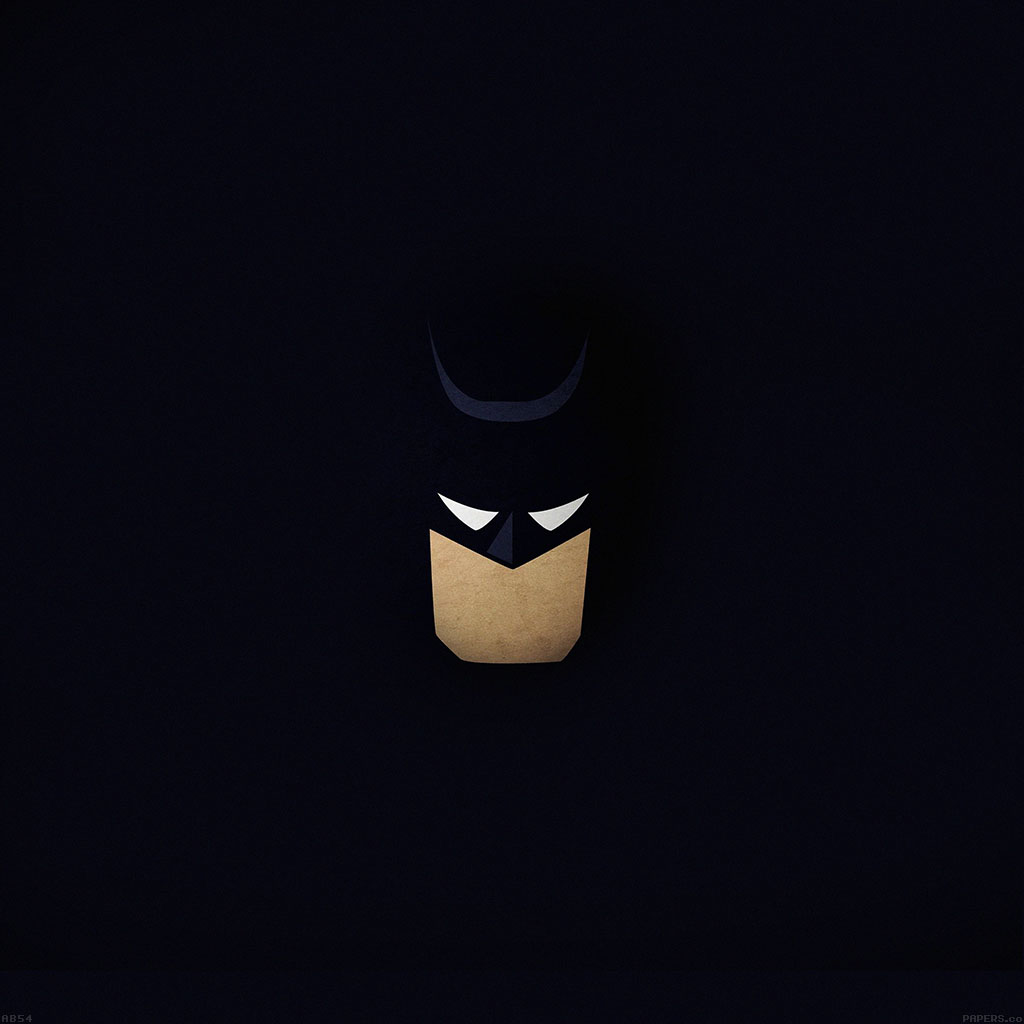 Wallpaper Iphone Minimalist: Ab54-wallpaper-batman-face-dark-minimal