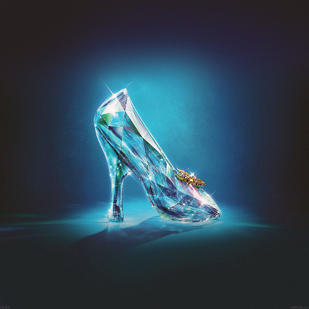 wallpaper-ac04-wallpaper-cinderella-glass-slipper-shoes-illust-wallpaper