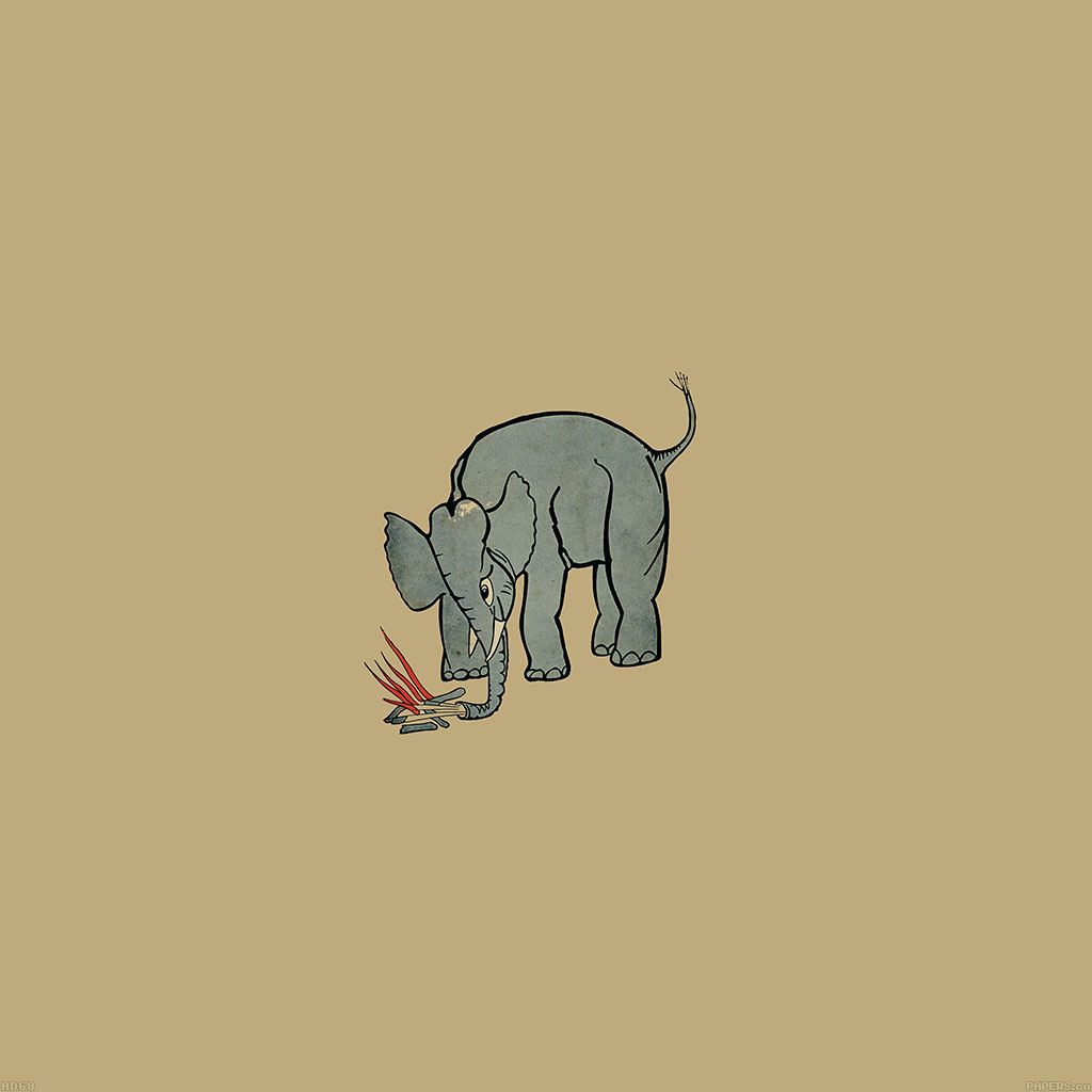 wallpaper-ad68-elephant-fire-illust-wallpaper