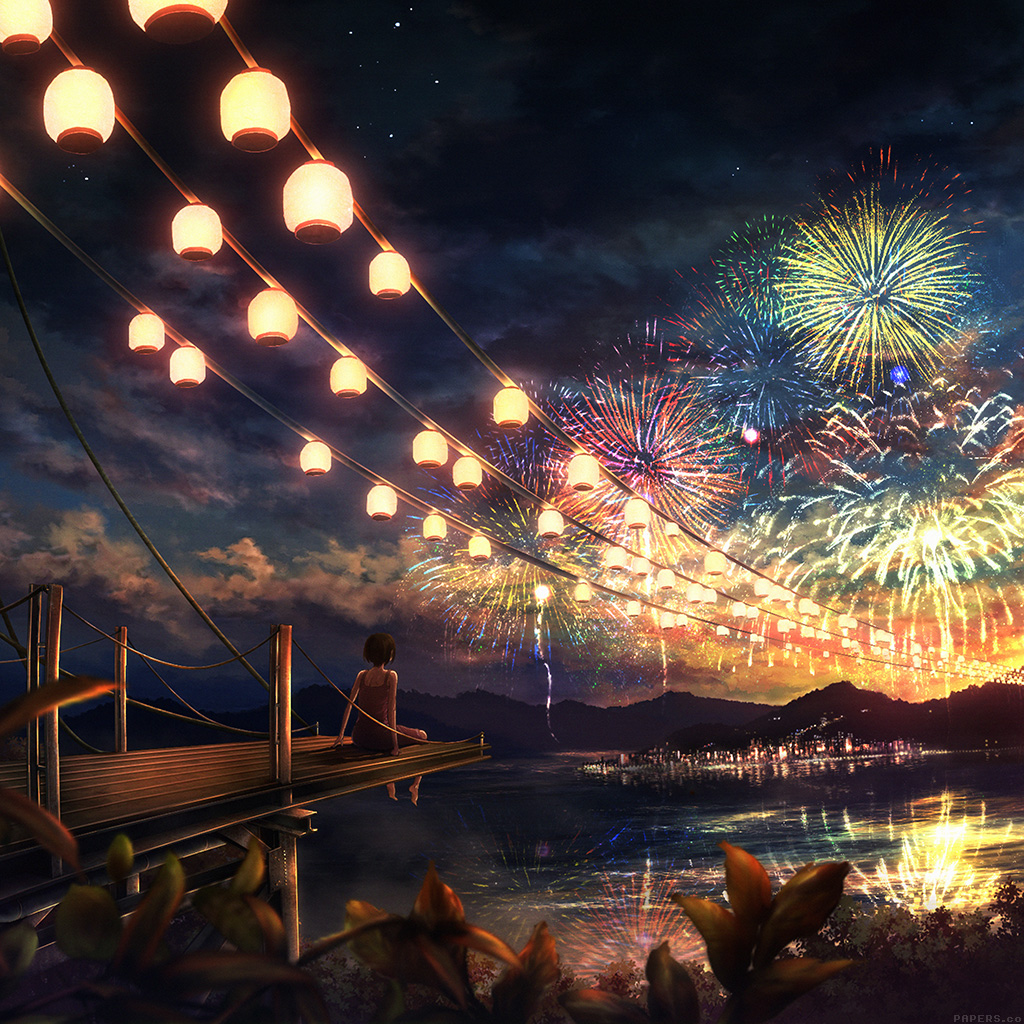 wallpaper-ah43-firework-girl-dark-night-anime-art-illust-wallpaper