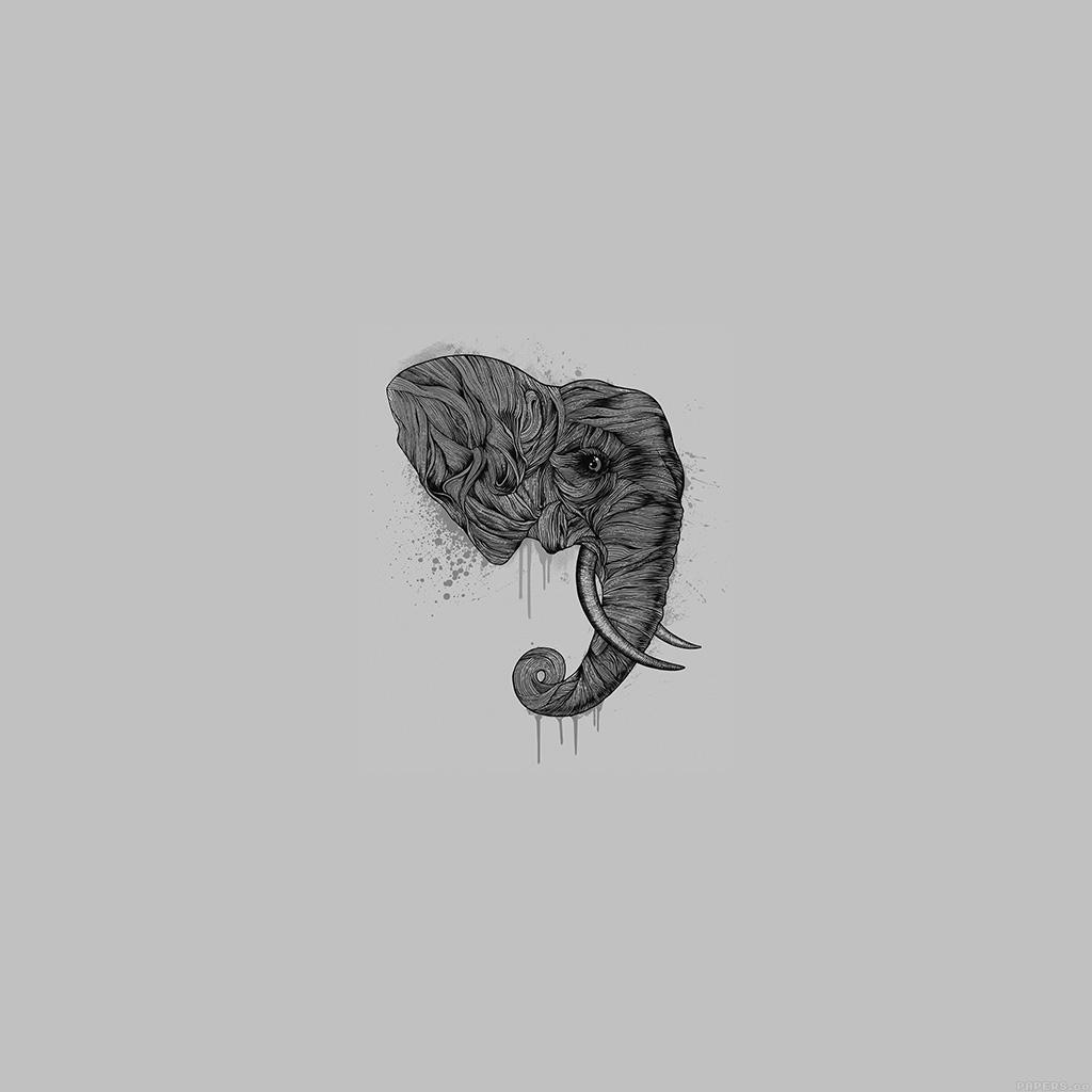 wallpaper-ah78-elephant-art-dark-illust-drawing-animal-wallpaper