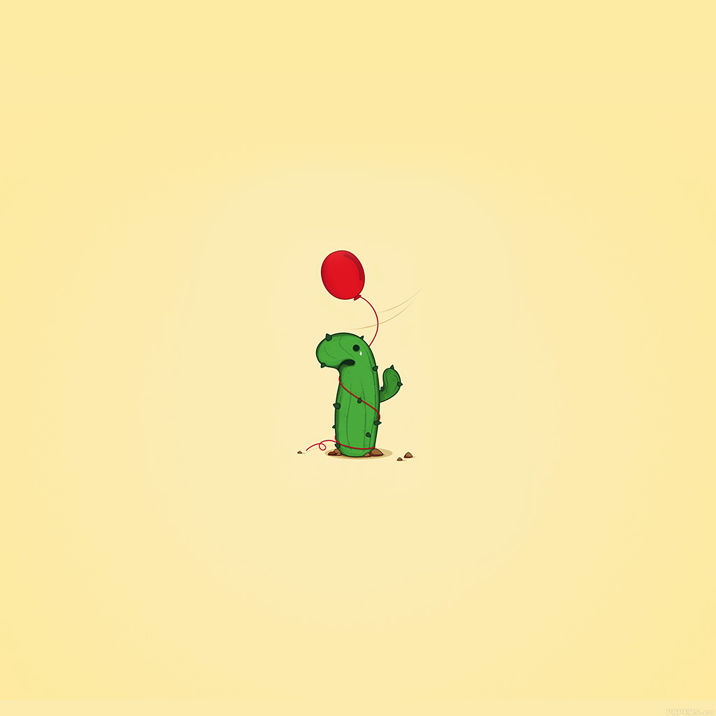 wallpaper-ai35-cute-cactus-ballon-illust-art-minimal-wallpaper