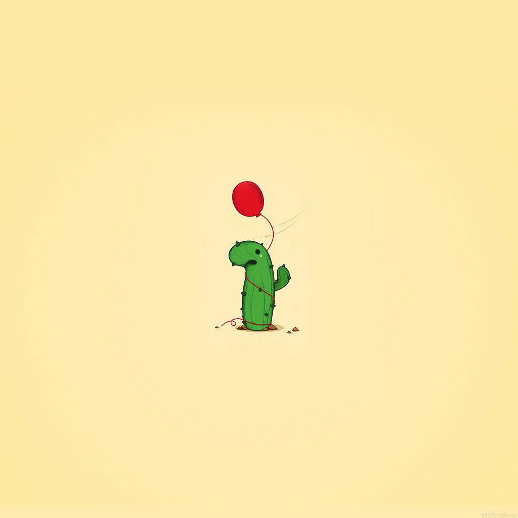 wallpaper-ai35-cute-cactus-ballon-illust-art-minimal-wallpaper