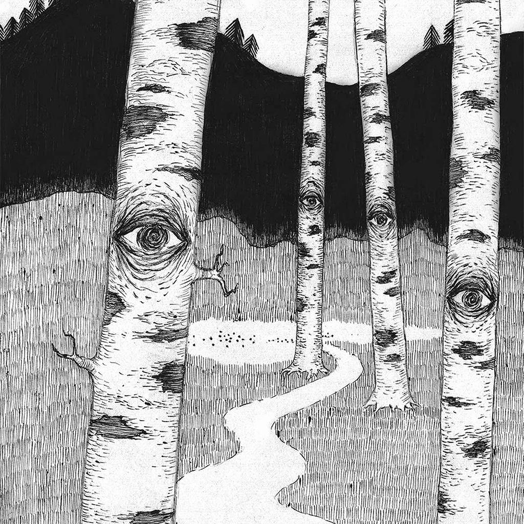 wallpaper-ai46-eye-in-woods-pencil-drawing-art-illust-wallpaper