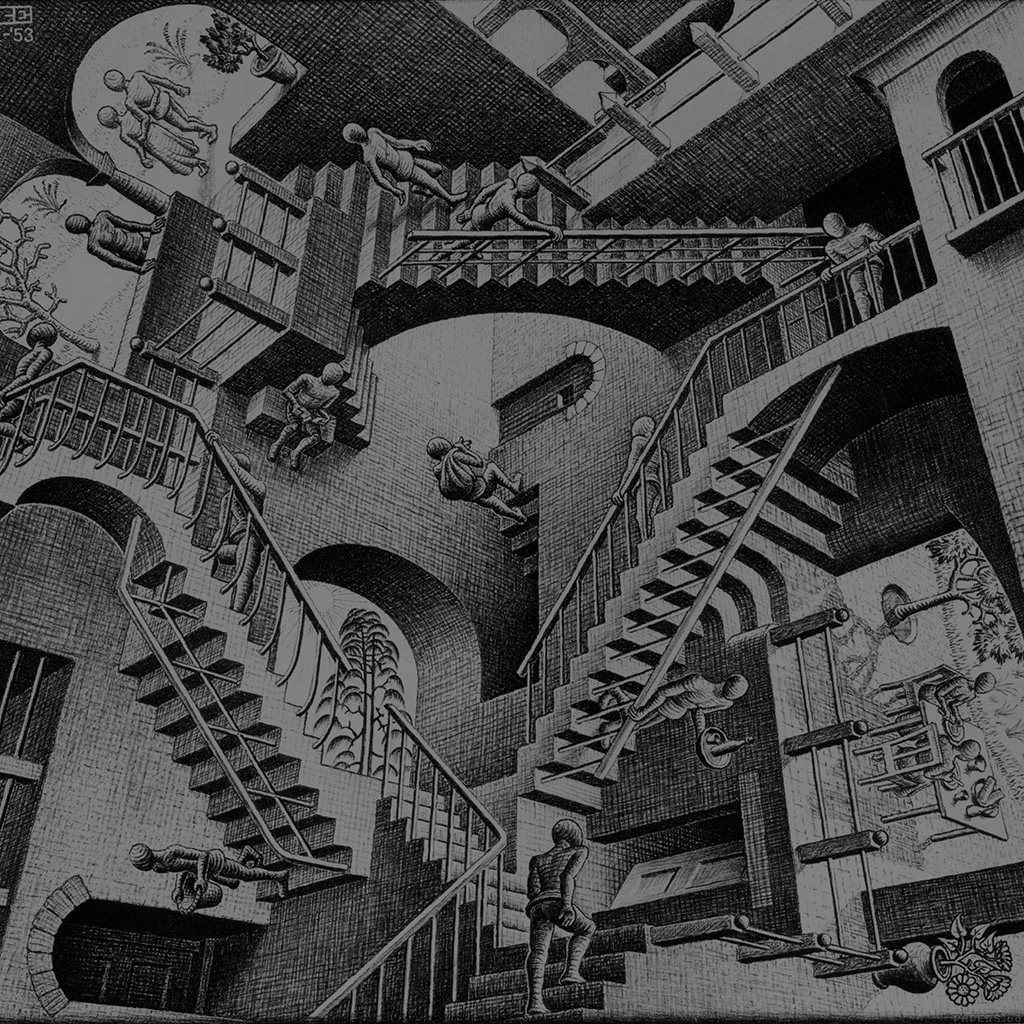 wallpaper-aj05-escher-art-drawing-illust-wallpaper