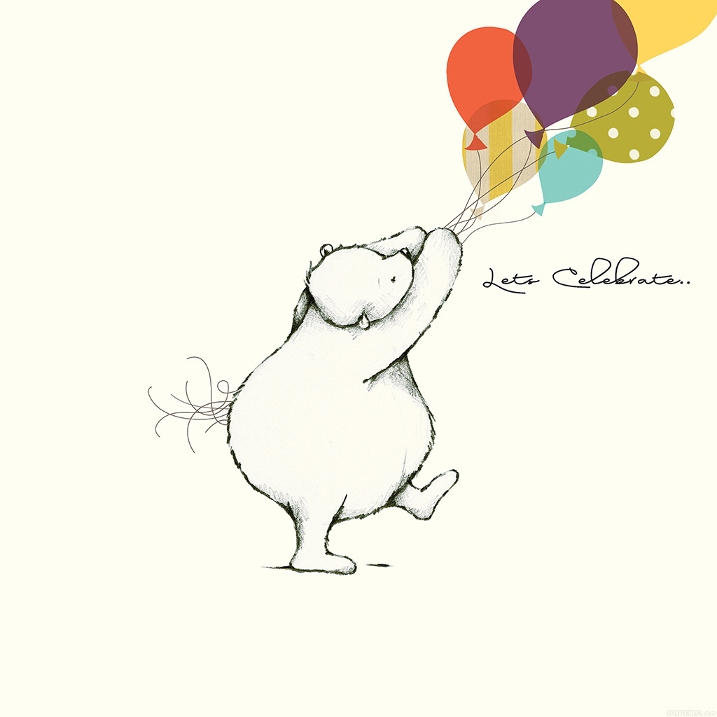 wallpaper-aj21-lets-celebrate-cute-bear-illust-nicola-evans-wallpaper