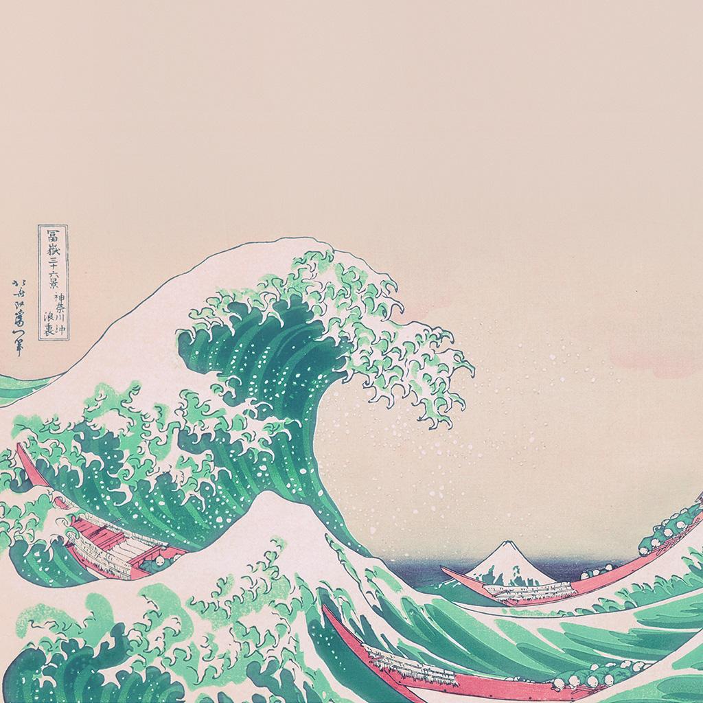 wallpaper-an26-wave-art-hokusai-japanese-green-illust-classic-wallpaper