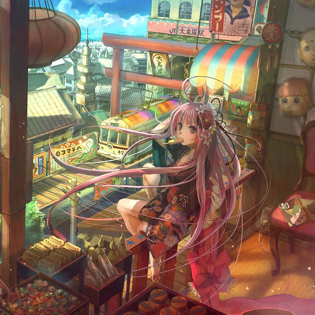 wallpaper-an74-girl-anime-icecream-art-drawing-wallpaper