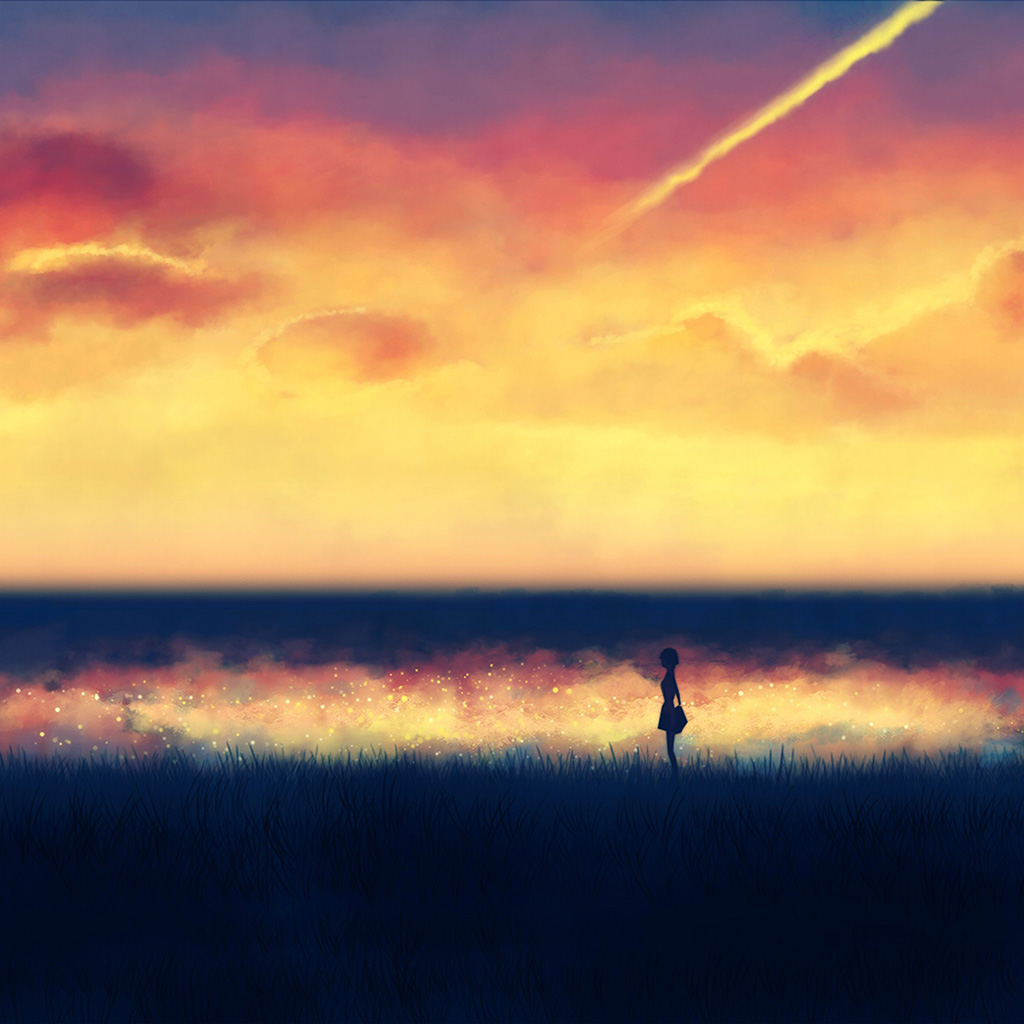 wallpaper-an83-fantasy-lonely-ilust-art-sunset-paint-wallpaper
