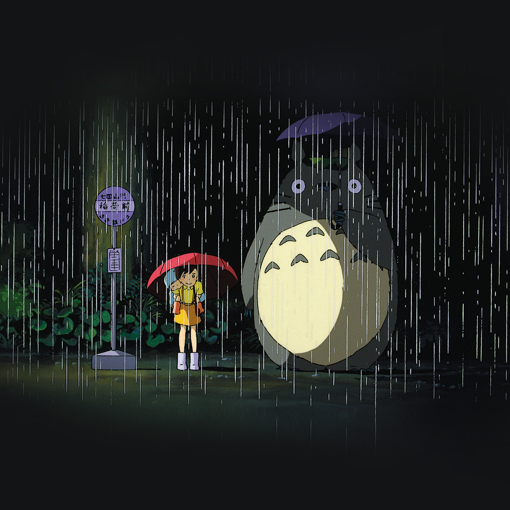 wallpaper-ao63-my-neighbor-totoro-art-illust-rain-anime-wallpaper