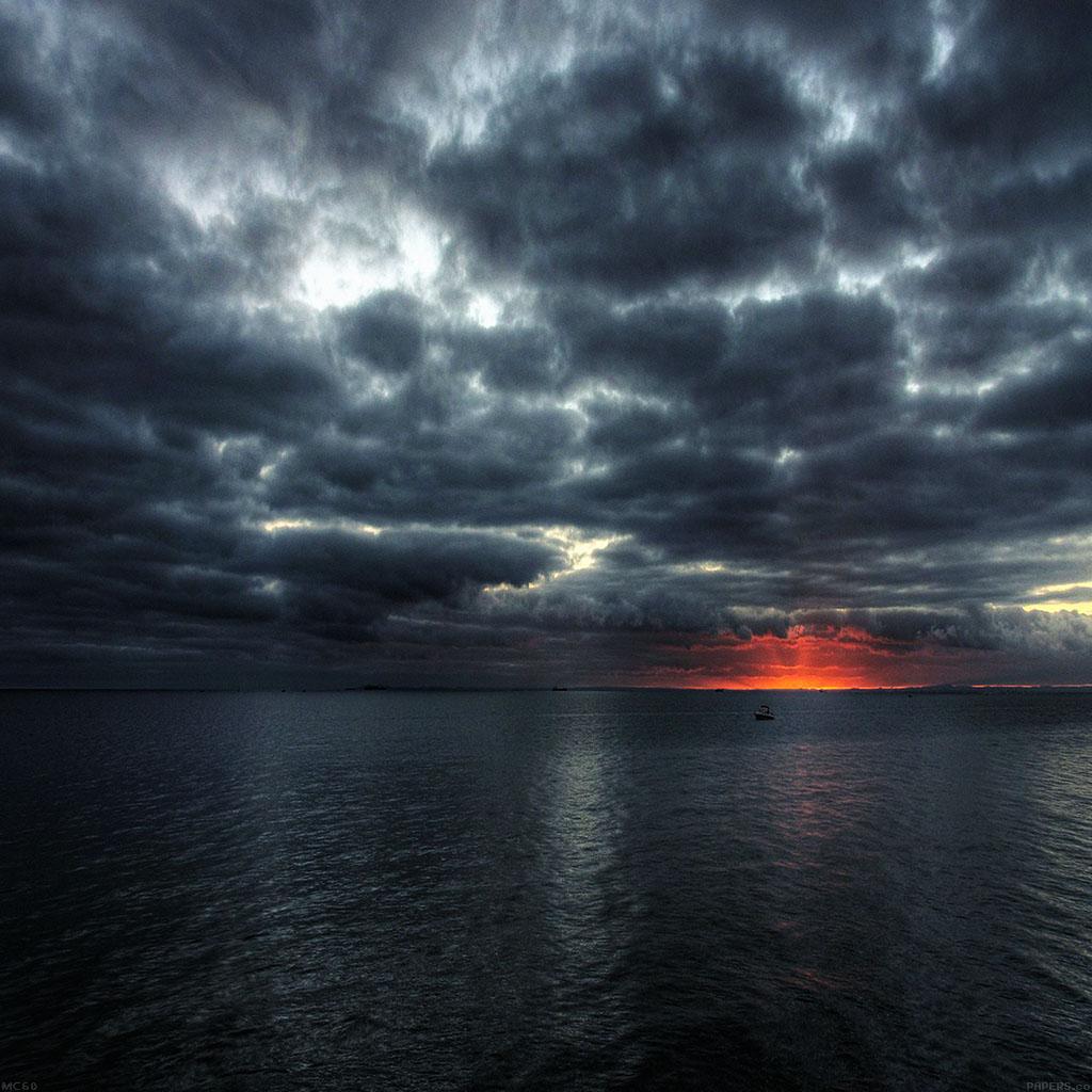 Red Sunset Ocean Dark Island wallpapers Red Sunset Ocean Dark