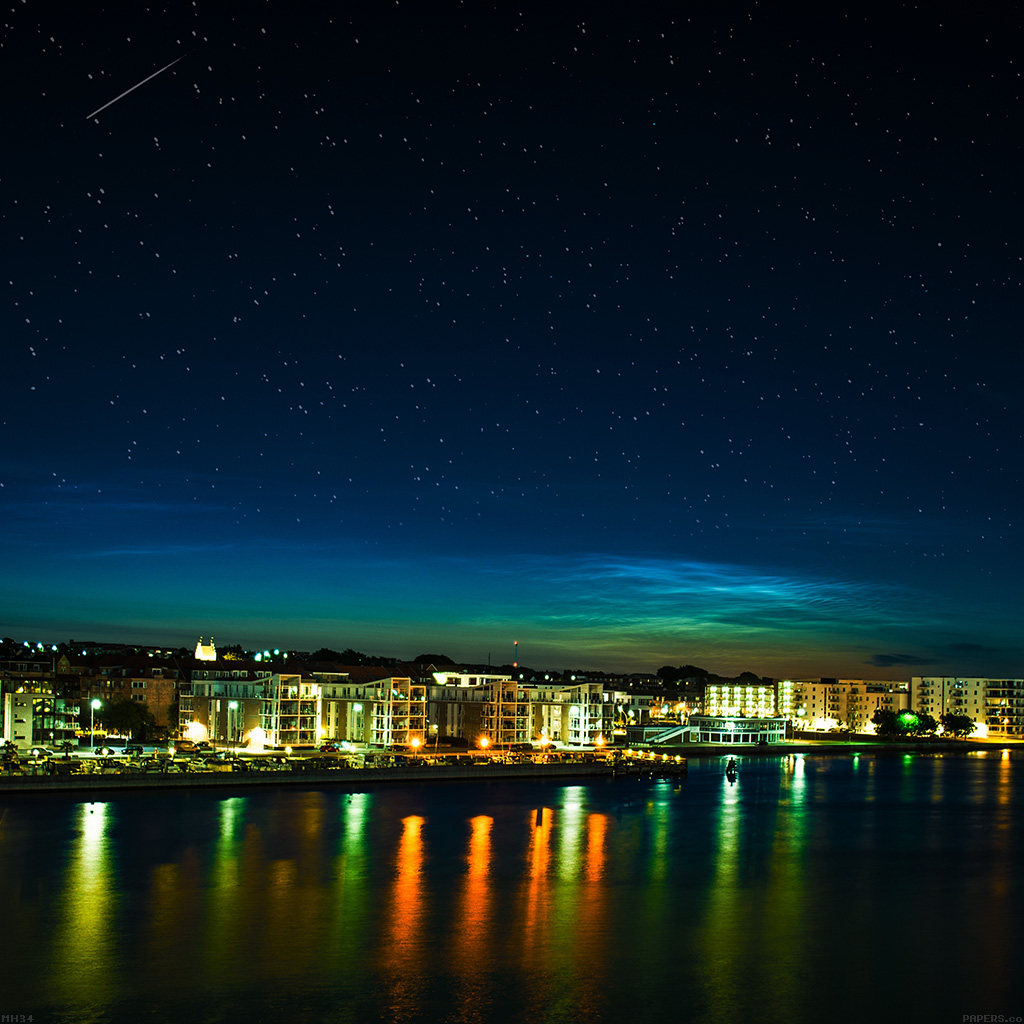 wallpaper-mh34-aalborg-night-scene-from-sea-dark-cityscape-wallpaper