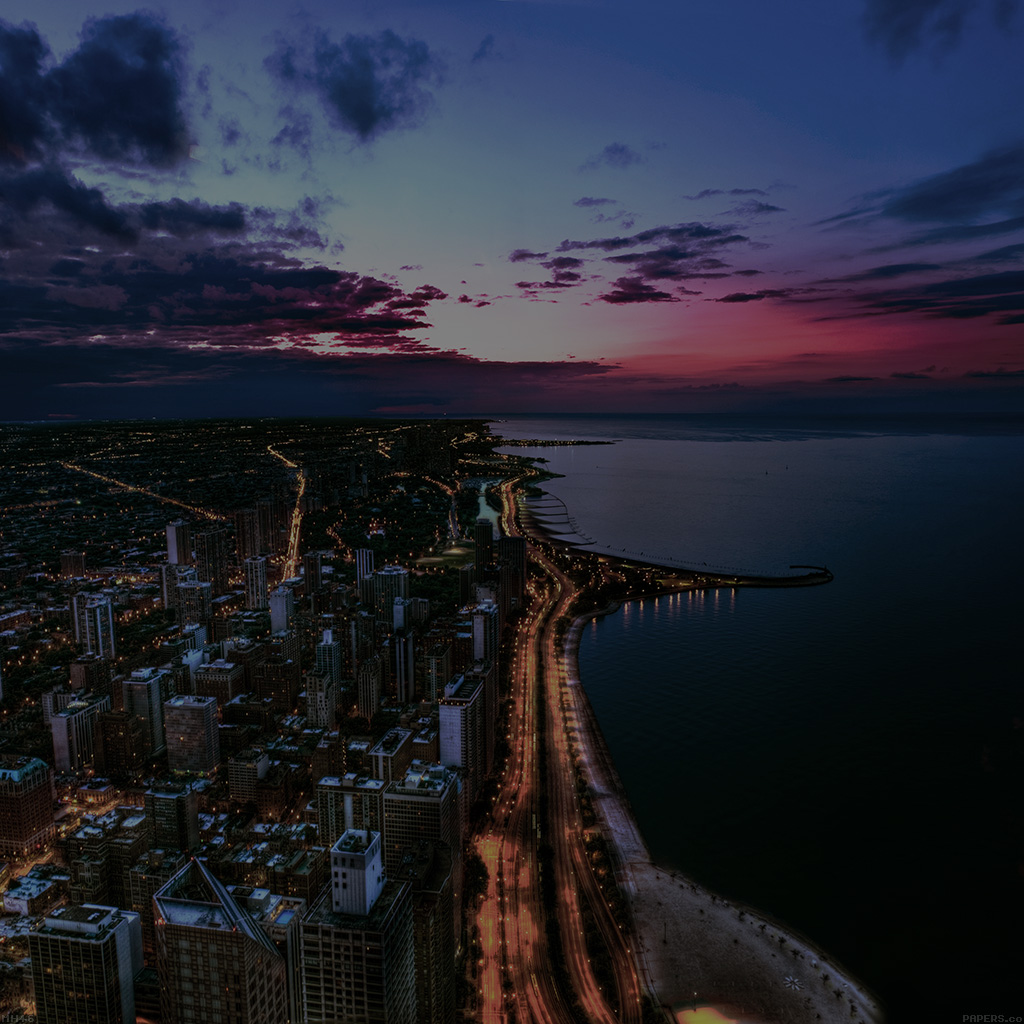 wallpaper-mh46-chicago-city-night-sky-view-scape-dark-ocean-beach-wallpaper