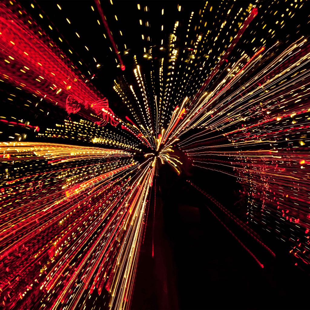 Wallpaper Vl97 Into Tunnel Lights Art Pattern Dark