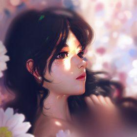 au93-liang-xing-daisy-cute-girl-illustration-art-pink