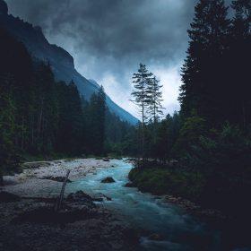 np32-mountain-wood-night-dark-river-nature-blue