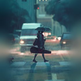bc89-rainy-day-anime-paint-girl-art-illustration