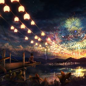 ah43-firework-girl-dark-night-anime-art-illust